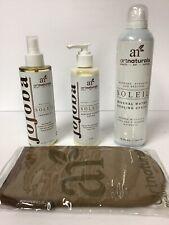 SUMMER TRIO Artnaturals Jojoba Soleil  Sunless Tanning Lotion,Oil, Cooling Spray