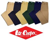 Genuine Lee Cooper Men's Chinos Slim Fit Cotton Trousers Pants Christmas Gift