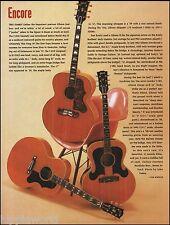 Gibson postwar Jumbo J-200 J-180 J-185 acoustic guitar 1993 article 8 x 11 pinup
