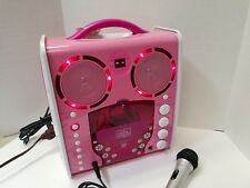 The Singing Machine Karaoke SML-383 Portable Disco Lights Up Pink Microph Video