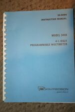 Data Precision 3400 4-½ Digit Programmable Multimeter Manual WITH SCHEMATICS