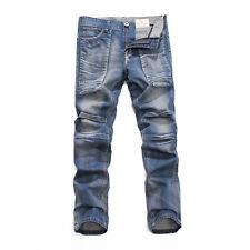 FOX JEANS Men's Douglas Regular Fit Straight Blue Denim Jeans Size 32-44