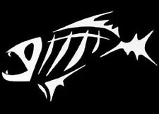 Bone Fish Fishing Decal Sticker Boat Bass Catfish Lake Salt Funny