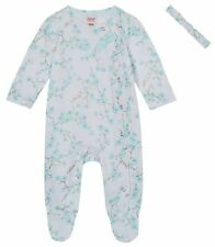 New Ted Baker Baby Girls Mint Green Cherry Blossom Romper Sleepsuit 12-18 Months