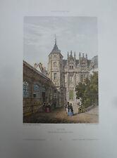 DEROY LITHOGRAPHIE GRAVURE ORIGINALE VILLE DE ROUEN IMP LEMERCIER / N°3