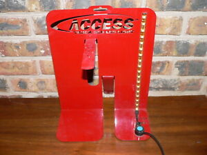 """Access Truck Bed 12"""" LED Light Strip Part #70380 Display Stand w/Sample Light"""