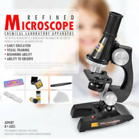Children Microscope Kit With Light Science Lab Magnifier Educational Kids Toy AU