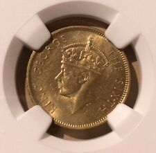 1952 Jamaica 1/4 Penny NGC UNC DETAILS REV CLEANED - Nickel-Brass - Farthing