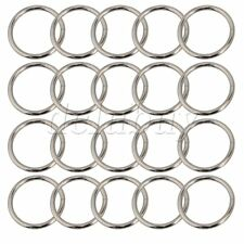 20pcs Metal O-Ring 38mm Dia Paracord Survival Keychains Leashes Collars Crafts