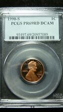 1990-S Proof Lincoln Cent - PCGS PR-69RD DCAM