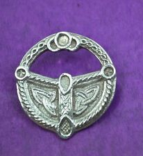 super vintage Scottish silver brooch M.S. STERLING SILVER MADE IN SCOTLAND