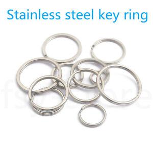 Stainless steel Split Key Rings Hoop Ring elastic Loop Keychain 8-50mm 10-10000x