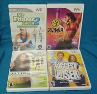 Jillian 2009, Zumba, Biggest Loser, My Fitness Coach 2 Nintendo Wii / Wii U Game