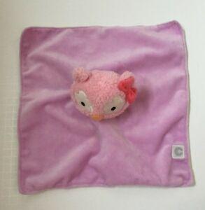 Boppy Baby Lovey Purple Pink Minky Plush Owl Green Chevron Striped Finger Puppet