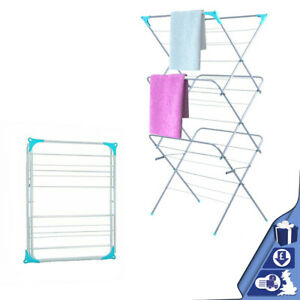 3 Tier Folding Clothes Laundry Washing Drying Rack Airer Indoor Outdoor