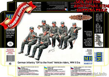 """Master Box 35137 """"Off to the front"""" WWII German Infantry Vehicle Riders kit 1/35"""