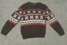 Gymboree Brown Orange White Sweater Size 6