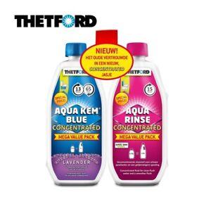 Thetford Toilet Chemicals Duo Aqua Kem Blue & Toilet Fluid Caravan Motorhome