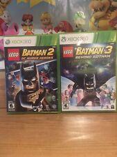 XBOX 360 LEGO Batman 2 DC Super Heroes & 3 Beyond Gotham Complete