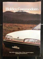 Holden Commodore VL SL Advertising Brochure Manual Handbook 1987