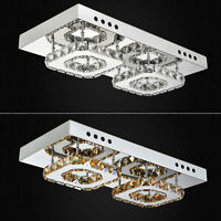 NEW Chrome Metal Crystal Ceiling Light lamp Fitting Pendant Chandelier 8303HC