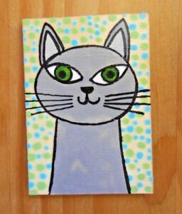 Cats hand painted cat fridge magnet, wooden mini pictures,cat lovers gift idea