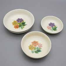 "Vtg Franciscan China Floral Pattern Round Serving Bowl Set 7"", 7.75"", 9.25"" USA"
