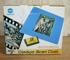 Minolta Dimage Scan Dual F-2400 35mm Film Scanner Cables Manuals Floppy Disk
