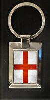 St Georges Flag - high polished metal keyring