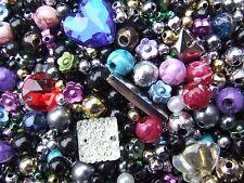 Clearance Jumbo Sale Plastic Resin Acrylic Beads Mix 180 Grams 1000+ of Joblot