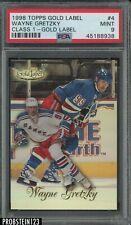 1998 Topps Gold Label Class 1 Wayne Gretzky Rangers HOF PSA 9 MINT