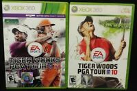 Tiger Woods Golf 10  + 13 PGA Tour  XBOX 360 2 GAME Lot Tested + Complete