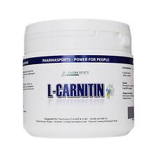 Pharmasports L-Carnitin 250 gramm reines Carnitin Pulver z.B Fatburner Workout