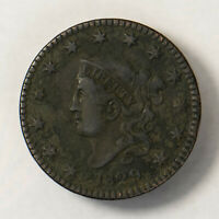 1829 CORONET HEAD 1C LARGE CENT ** EARLY US COPPER Lot#R127