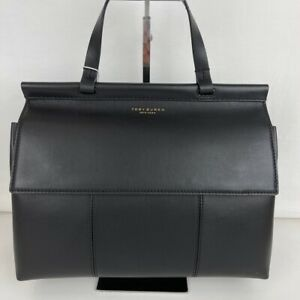 New Tory Burch T Satchel - Black Leather Satchel Style 35456