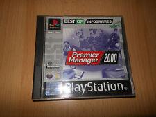 Premier Manager 2000 PlayStation 1 PS1 Coleccionistas De Menta