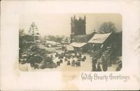 Postcard Lincolnshire Colsterwoth Parish Church Under Snow Real Photo post 1907