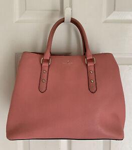 Kate Spade New York Dome Satchel Pink Leather Bag Handbag