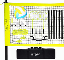 New listing Volleyball and Badminton Set for Backyard and Outdoors with Easy Set-up Net + 4