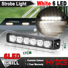 6 LED Car Truck Emergency Beacon Warning Hazard Flash Strobe Light White 12-24V