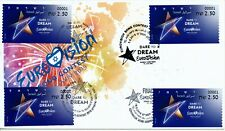 ISRAEL 2019 EUROVISION SONG CONTEST FDC WITH THE 4 POST MARKS -SEE DETAIL BELOW