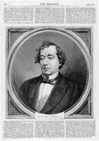 1872 Antique Print Portraits - Benjamin Disraeli (268)