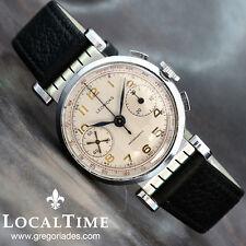 1940's Leonidas Swiss Pre-Heuer Vintage Reloj Cronógrafo landeron cal. 248