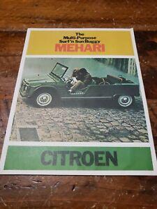 1969 Citroen Mehari SUV photos vintage print Ad