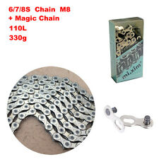 MTB Bike 6/7/8 Speed Chain 110L Magic Button Fit for Shimano SRAM Bicycle Chain