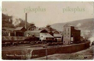 INDUSTRIAL POSTCARD ARRAIL GRIFFEN COLLIERY GWENT NOTE RAILWAY REAL PHOTO U.1908
