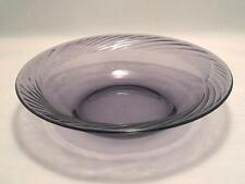 1 New CORELLE Pyrex FESTIVA Purple AMETHYST 14-oz Swirled Glass Soup Cereal BOWL