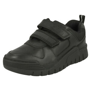 BOYS CLARKS SCOOTER SPEED HOOK & LOOP JUNIOR LEATHER INFANT SCHOOL SHOES SIZE
