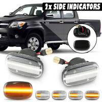 Dynamic LED Side Repeater Indicator Light Turn Signal For Toyota Hilux Mk6