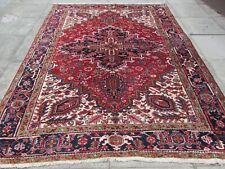 Vintage Old Hand Made Traditional Rug Oriental Wool Red Large Carpet 294x220cm